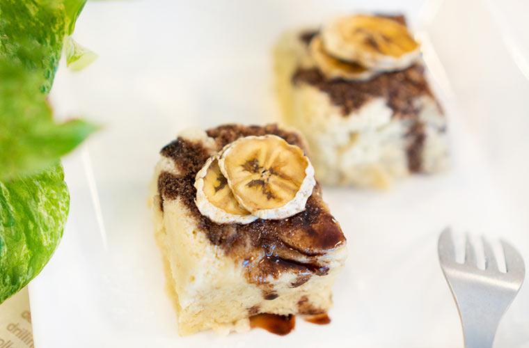 バナナの蒸しパンを手作り
