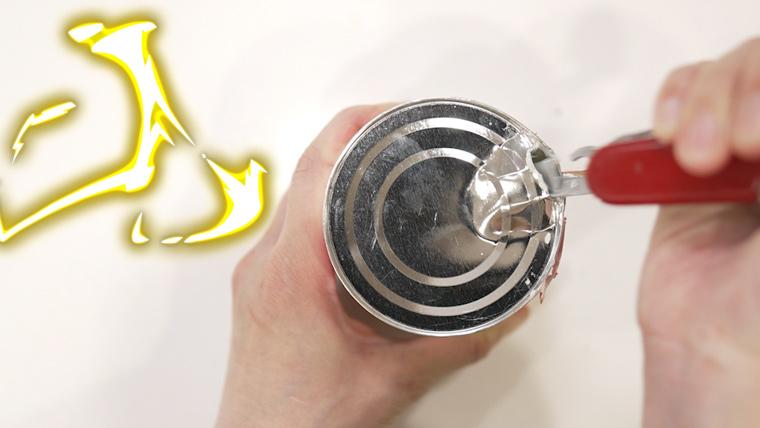 コンデンスミルクの缶 缶切り